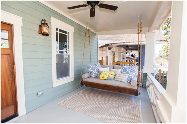 You Might Want An Outdoor Hanging Bed On Your Porch
